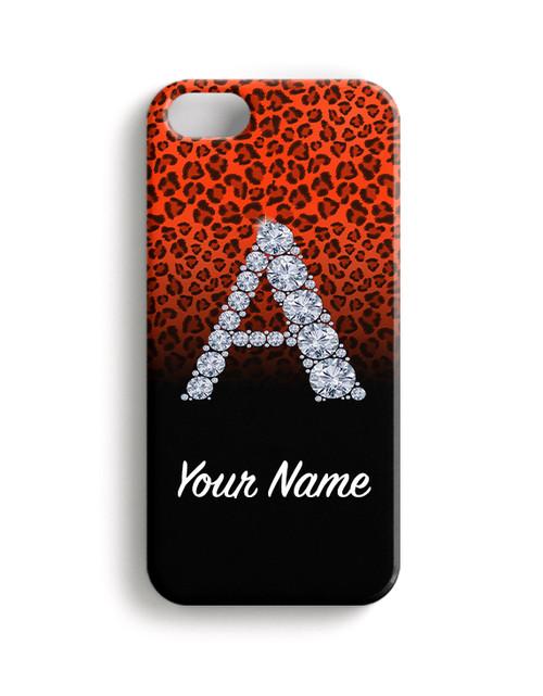 Orange/Black Cheetah - Phone Snap on Case