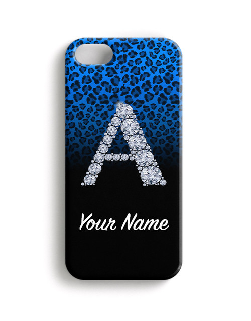Baby Blue/Black  Cheetah - Phone Snap on Case