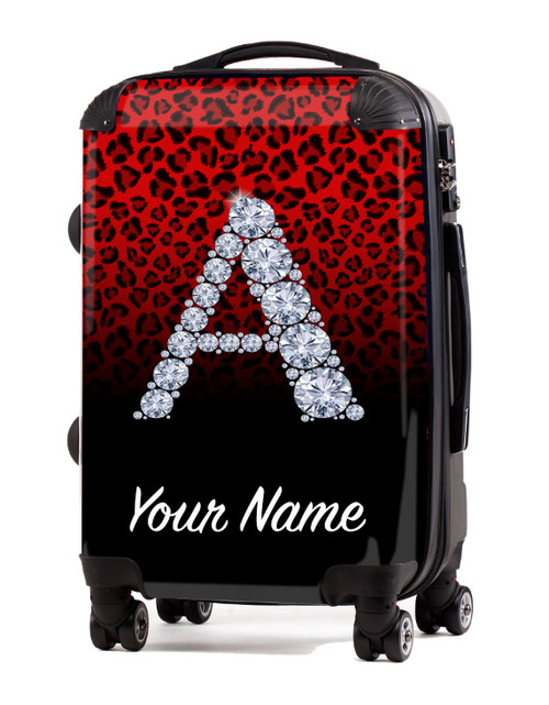 """Red/Black Cheetah - 20"""" Carry-On Luggage"""