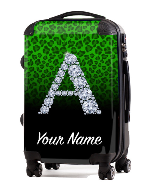 "Green/Black Cheetah - 20"" Carry-On Luggage"