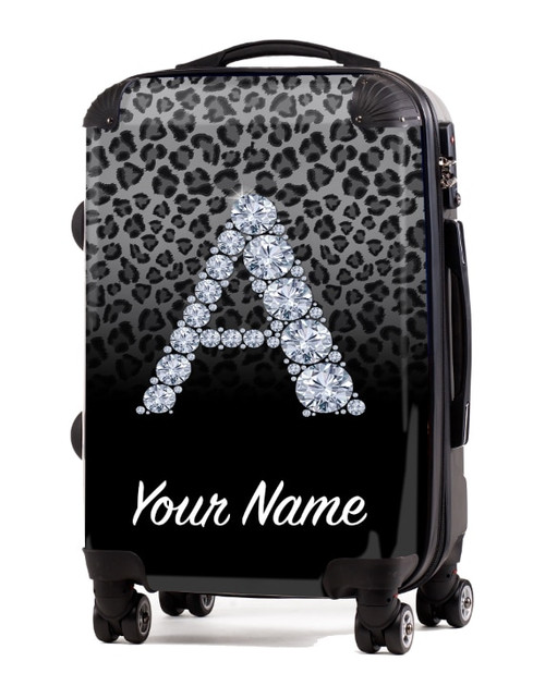 "Grey/Black Cheetah - 20"" Carry-On Luggage"