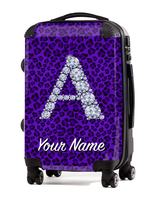 "Purple Cheetah -20"" Carry-On Luggage"