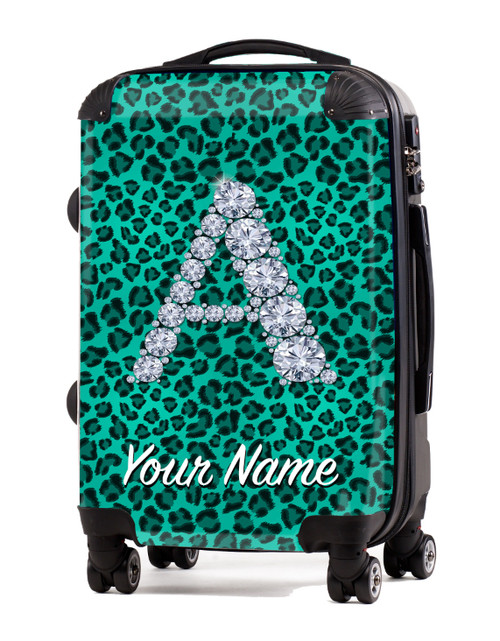 """Teal Cheetah - 20"""" Carry-On Luggage"""