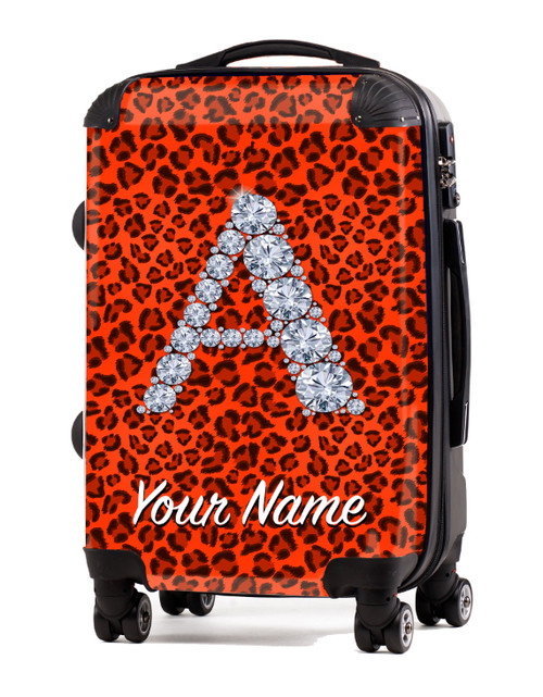 "Orange Cheetah - 20"" Carry-On Luggage"