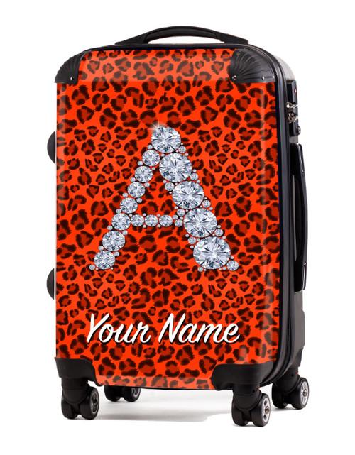 "Orange Cheetah - 20"" Carry-On Luggage"