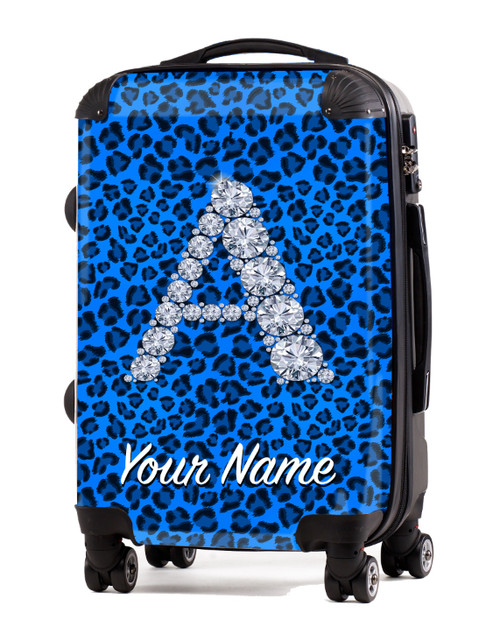 "Baby Blue Cheetah - 20"" Carry-On Luggage"