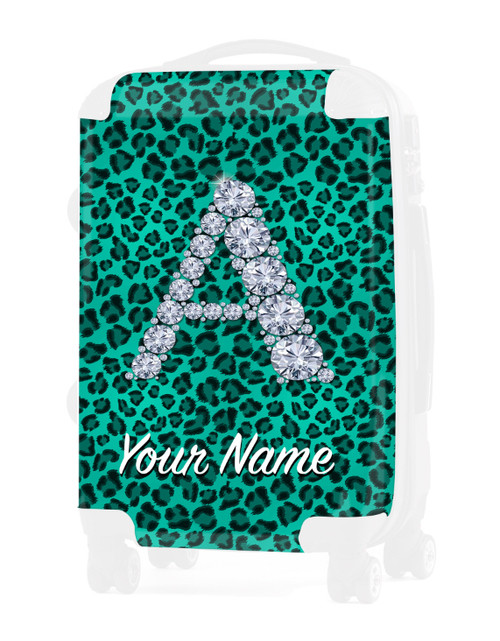 """Teal Cheetah - Graphic Insert for - 20"""" Carry-On Luggage"""