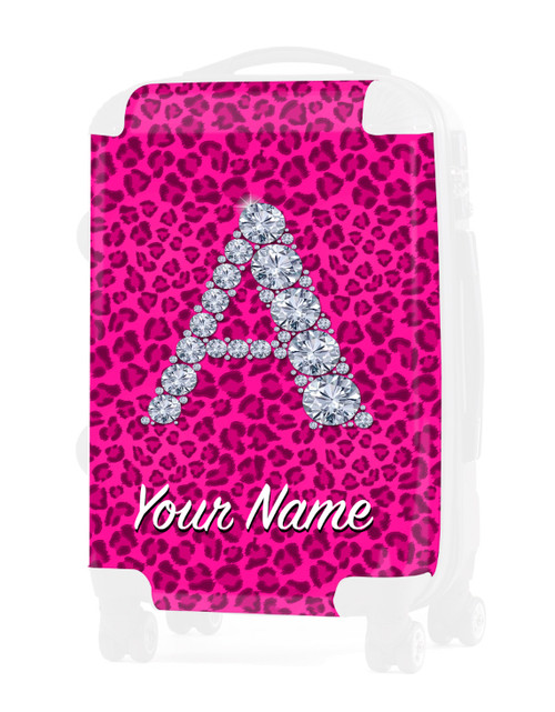 """Pink Cheetah - Graphic Insert for - 20"""" Carry-On Luggage"""