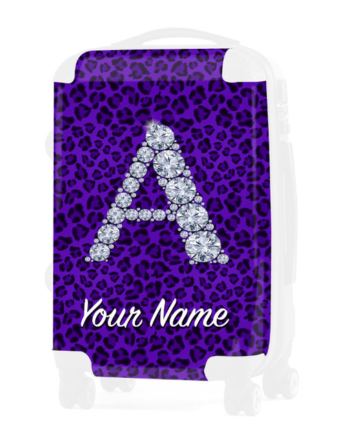 "Purple Cheetah - Graphic Insert for - 20"" Carry-On Luggage"