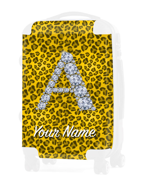 "Yellow Cheetah - Graphic Insert for - 20"" Carry-On Luggage"