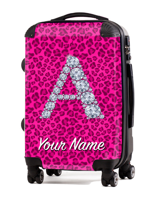 """Pink Cheetah - 20"""" Carry-On Luggage"""