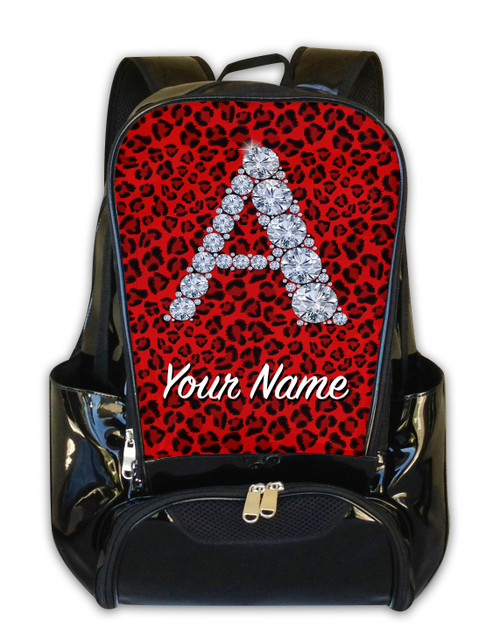 Red Cheetah Personalized Backpack