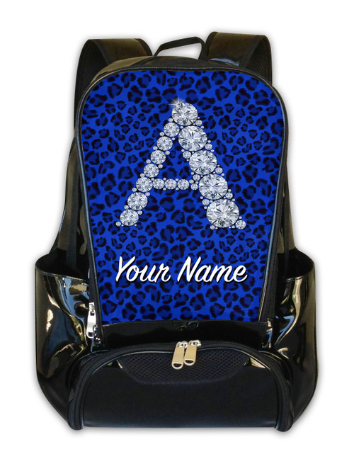Blue Cheetah Personalized Backpack