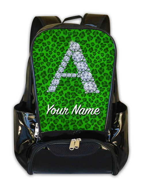 Green Cheetah Personalized Backpack