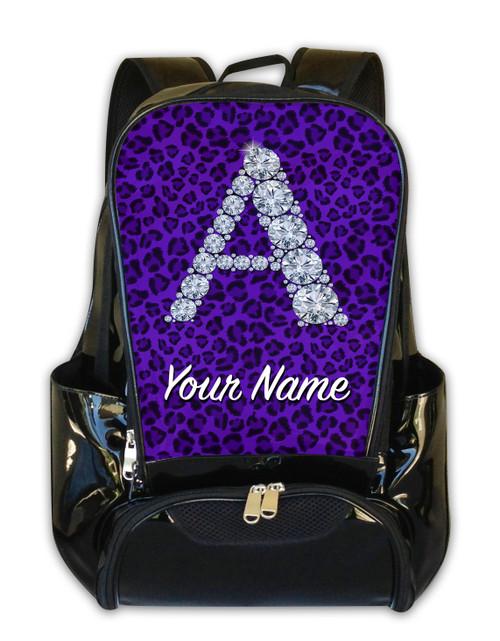Purple Cheetah Personalized Backpack