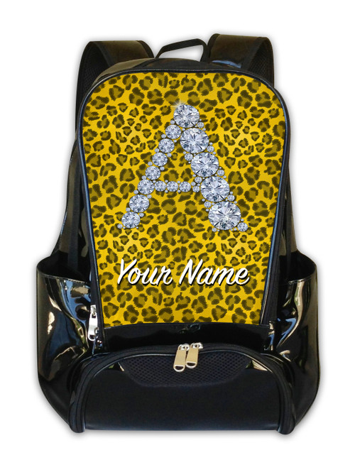 Yellow Cheetah Personalized Backpack