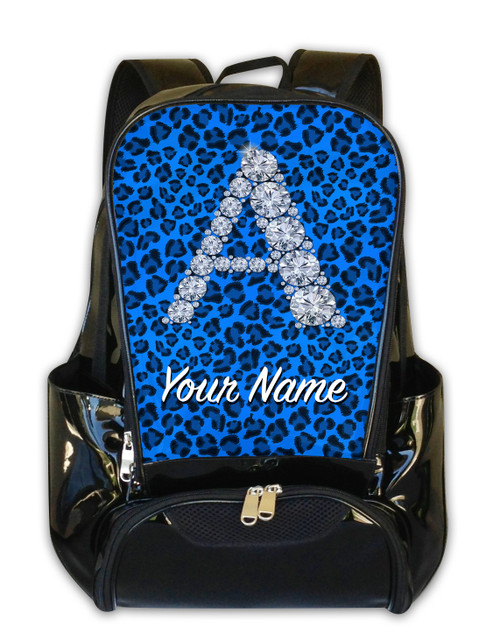 Baby Blue Cheetah Personalized Backpack