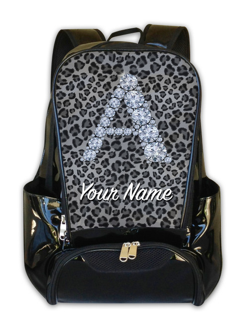 Grey Cheetah Personalized Backpack