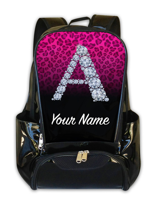 Pink/Black Cheetah Personalized Backpack