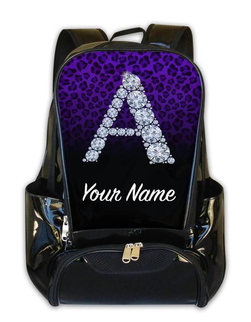 Purple/Black Cheetah Personalized Backpack