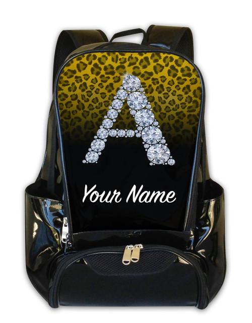 Yellow/Black Cheetah Personalized Backpack
