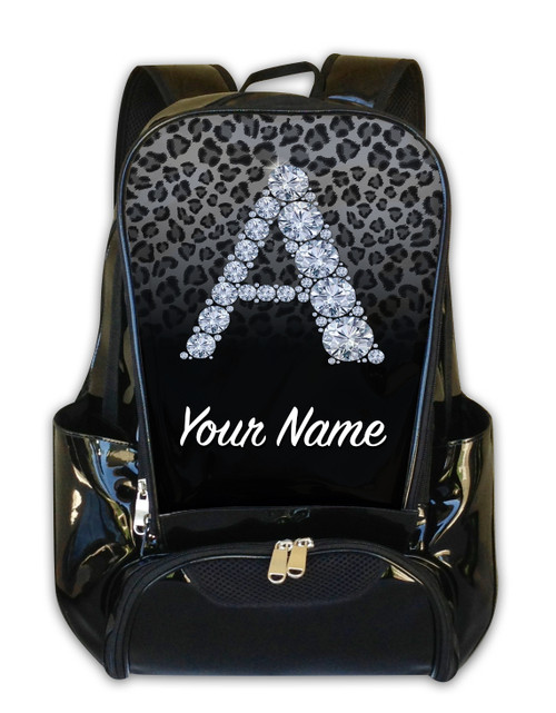 Grey/Black Cheetah Personalized Backpack