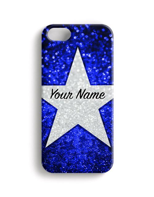 Blue Glitter Stars - Phone Snap on Case