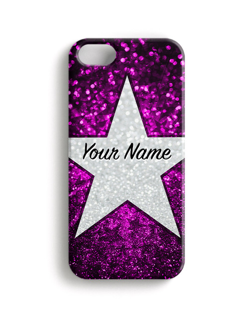Pink Glitter Stars - Phone Snap on Case