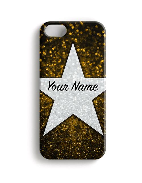 Yellow Glitter Stars - Phone Snap on Case