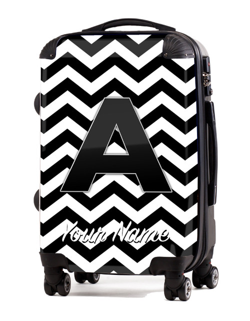 "Black Chevron - 24"" Check-in Luggage"