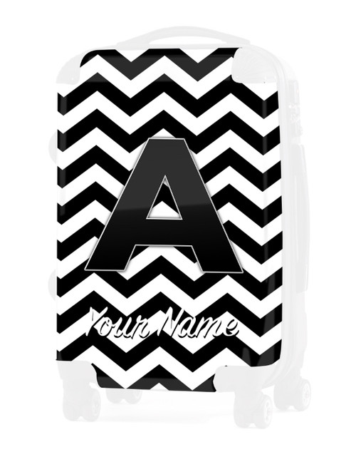 "Black Chevron - Graphic Insert for 24"" Check-in Luggage"