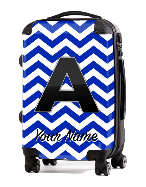 "Blue Chevron - 20"" Carry-On Luggage"
