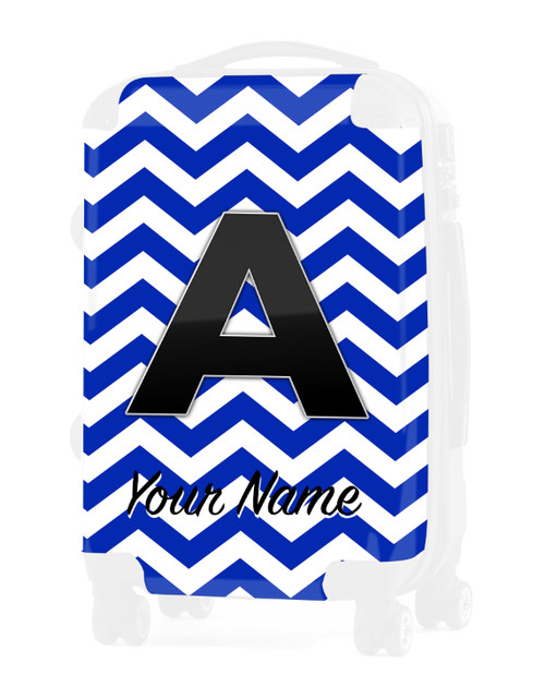"Blue Chevron - Graphic Insert for 20"" Carry-on Luggage"