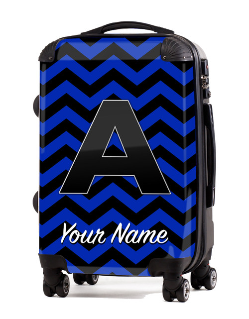 """Blue-Black Chevron - 24"""" Check-in Luggage"""
