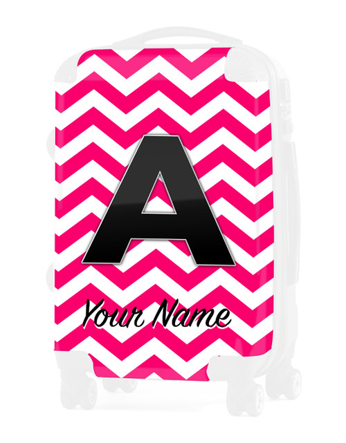 "Fuschia Chevron - Graphic Insert for 20"" Carry-on Luggage"