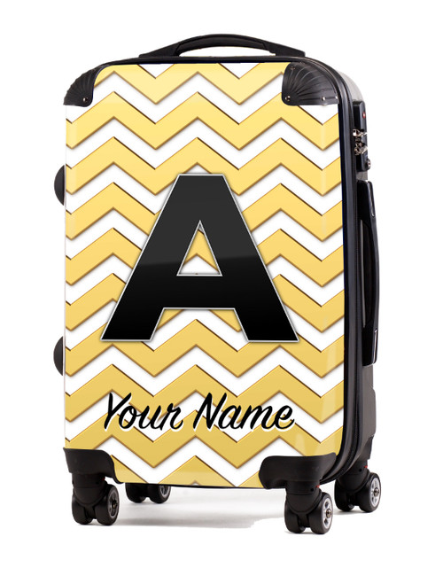 "Gold Chevron - 20"" Carry-On Luggage"