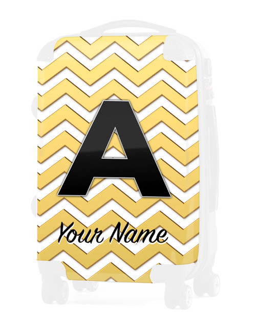 "Gold Chevron - Graphic Insert for 20"" Carry-on Luggage"