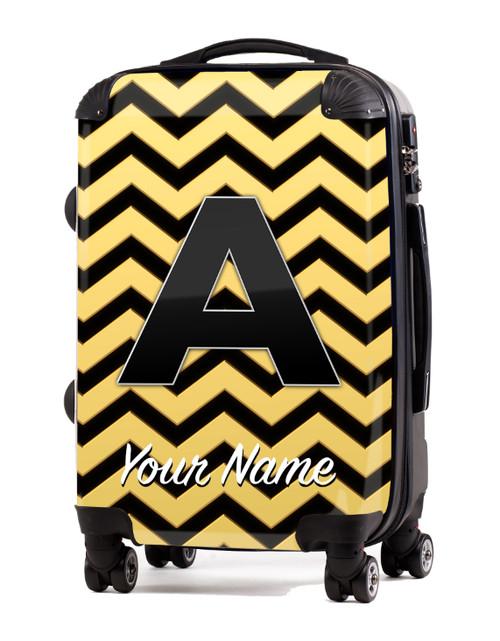 """Gold-Black Chevron - 24"""" Check-in Luggage"""
