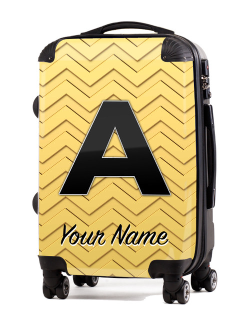 "Gold-Gold Chevron - 24"" Check-in Luggage"