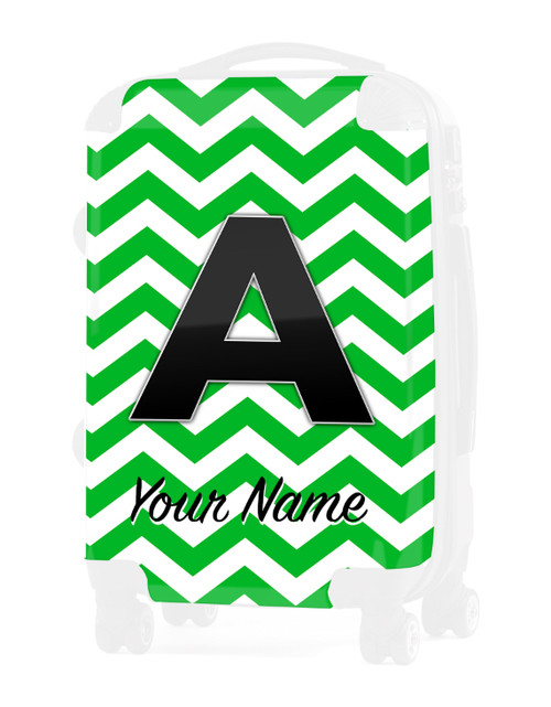 "Green Chevron - Graphic Insert for 20"" Carry-on Luggage"