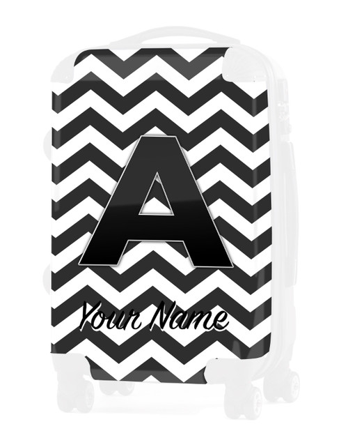 """Grey Chevron - Graphic Insert for 24"""" Check-in Luggage"""