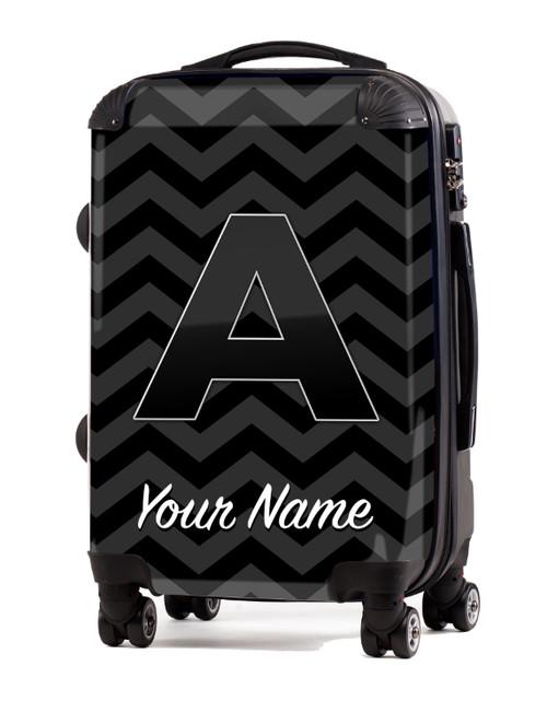 "Grey-Black Chevron - 20"" Carry-On Luggage"