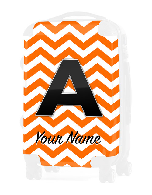"""Orange Chevron - Graphic Insert for 20"""" Carry-on Luggage"""