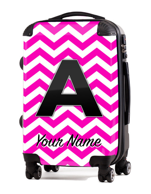 """Pink Chevron - 20"""" Carry-On Luggage"""