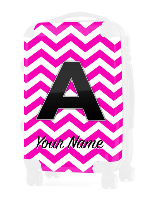 """Pink Chevron - Graphic Insert for 24"""" Check-in Luggage"""