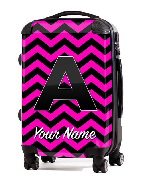 "Pink-Black Chevron - 20"" Carry-On Luggage"