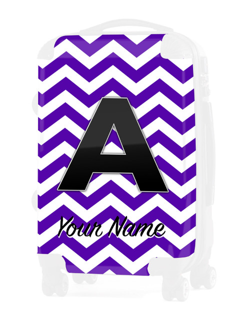 """Purple Chevron - Graphic Insert for 20"""" Carry-on Luggage"""