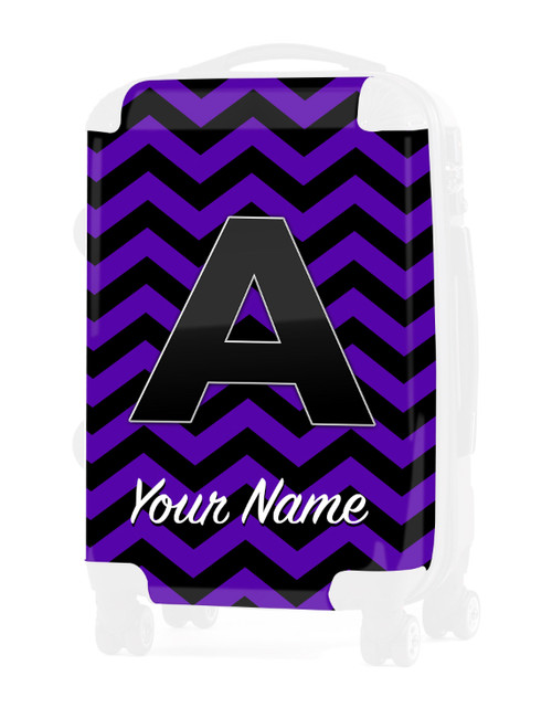 """Purple Black Chevron - Graphic Insert for 20"""" Carry-on Luggage"""