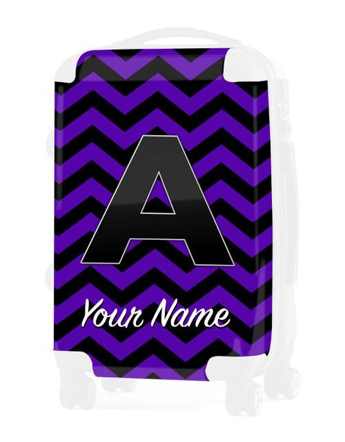 """Purple Black Chevron - Graphic Insert for 24"""" Check-in Luggage"""