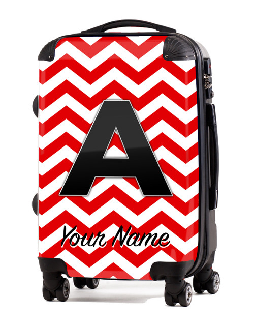 """Red Chevron - 20"""" Carry-On Luggage"""